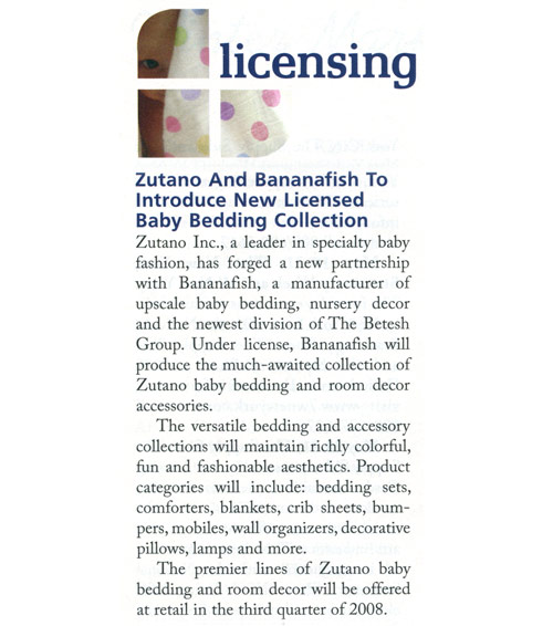 Bananafish & Zutano baby bedding ans accessories