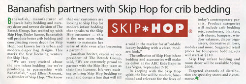 Bananafish partners with Skip Hop for crib bedding