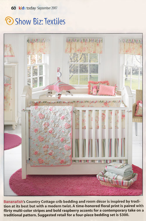 Bananafish Country Cottage crib bedding and room decor