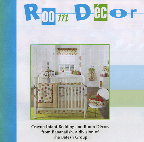 Crayon infant bedding and room decor