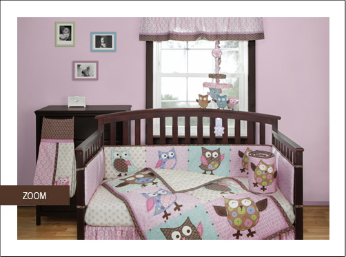 Calico Owls Baby Bedding