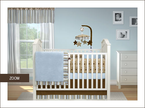 Short Latte Baby Bedding Set